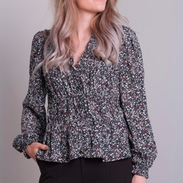 Ora Blush Flower Blouse
