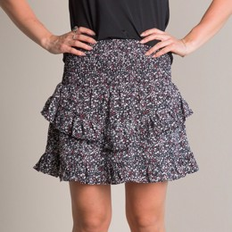 Line Blush Flower Skirt