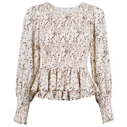 Stelli Flower bud Blouse off white