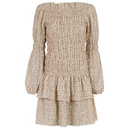 Briselle Check Flower Dress Sand