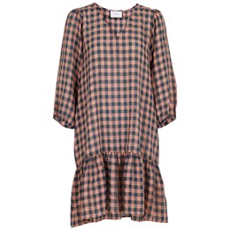 Lizzy Soft Check Dress Dusty green