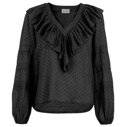 Alice Dobby Blouse Black