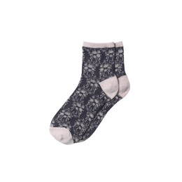 Floral Ariana Sock Maritime Blue