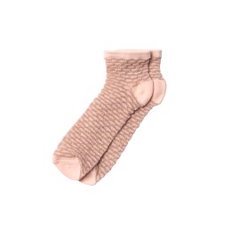 Waffle Dollie Sock Tropical Peach