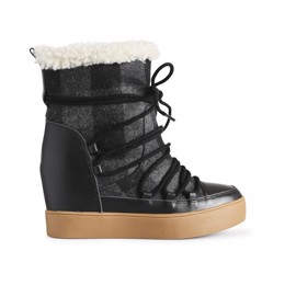 Trish check wool black
