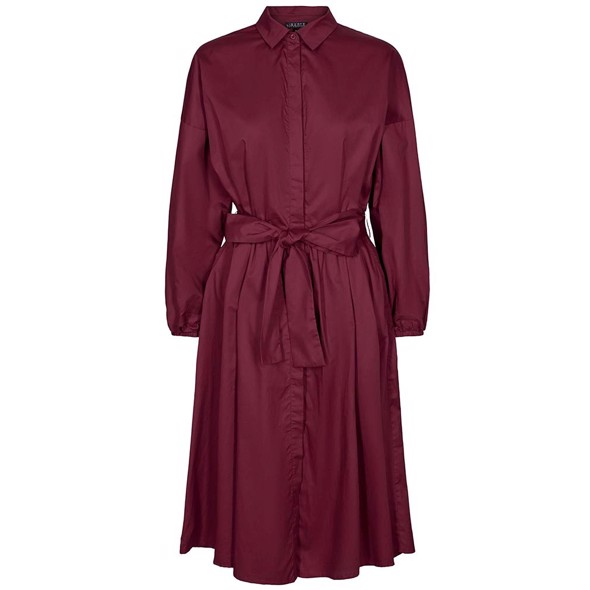 Katie shirt dress burgundy