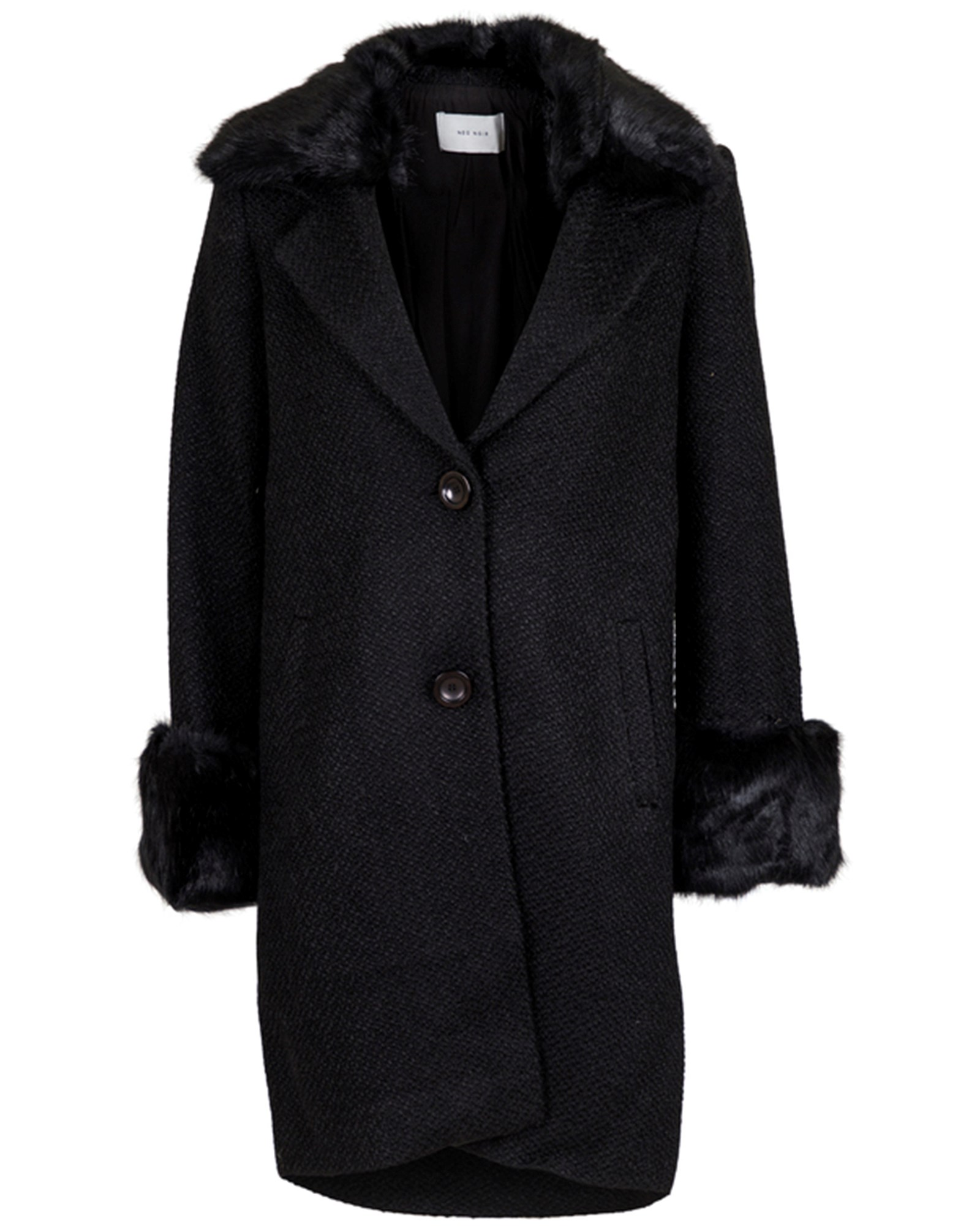 Daya Faux Fur Coat black