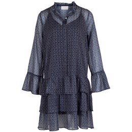 Iben Mosaic Dress blue