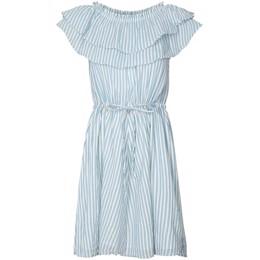 2077a887d503 Maggie lyseblå stribet kjole