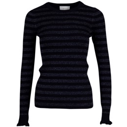 Nelle Mix Knit navy glimmerstrik