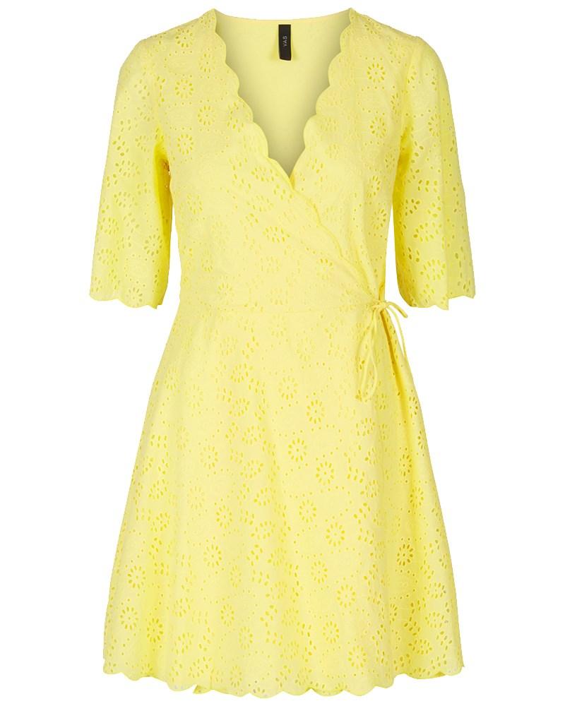 83ae99fb YAS YASANDORA gul kjole i broderi anglaise