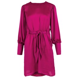 Linsey Solid Dress Fuchsia