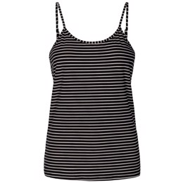 Alma strap top black/white