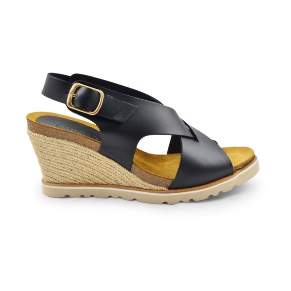Lea High Wedge Sandal black