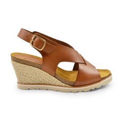 Lea High Wedge Sandal light tan
