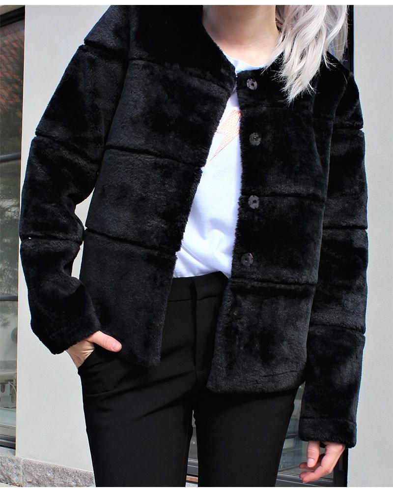 neo noir jakke sort