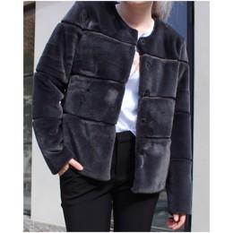 6436301e6d3 Kahla grå faux fur jakke