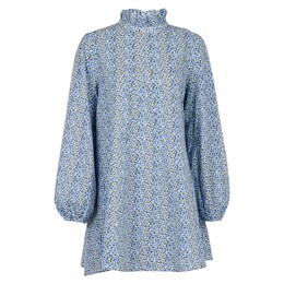 Taiga Printed Dress Blue