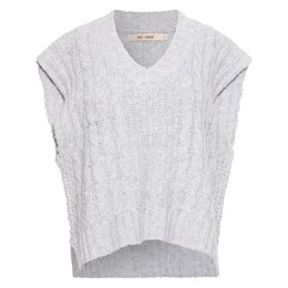 Spacy Knit Vest Light Grey Melange