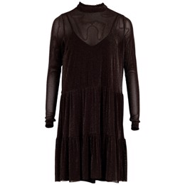 Kala Mesh dress chocolate brown