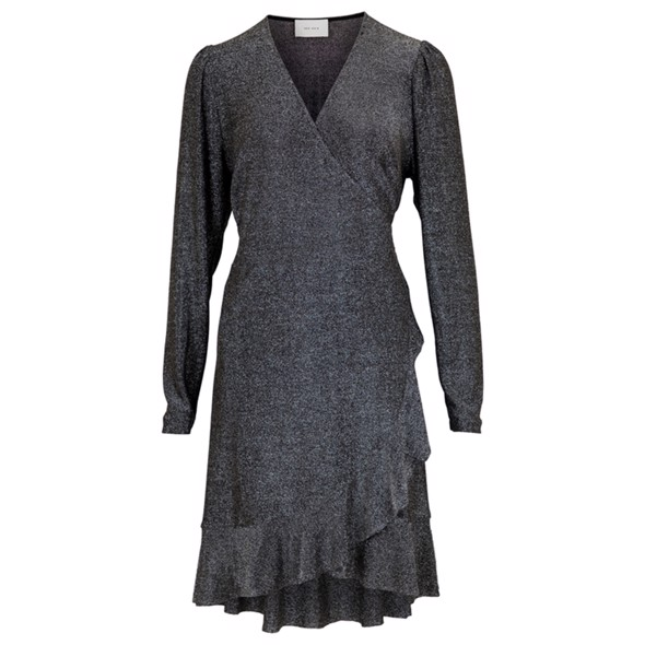 Mille Lurex dress gunmetal