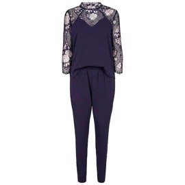 Tonic Lace Jumpsuit Navy